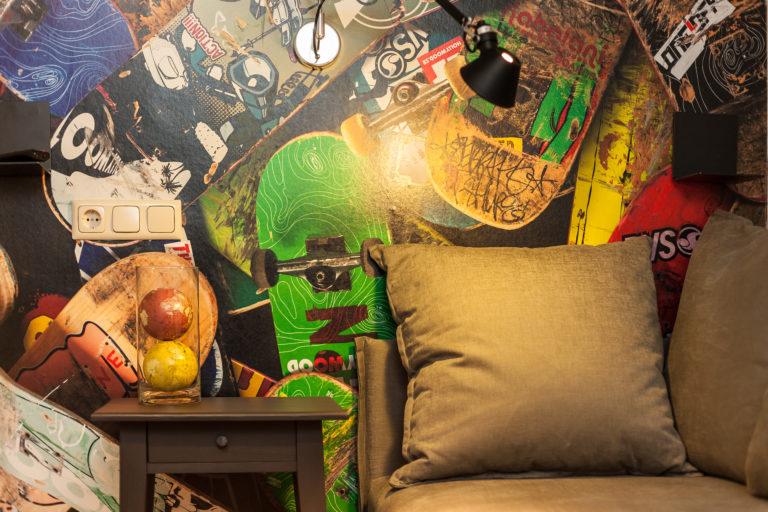 Ein familienfreundliches Zimmer im Best Western Nürnberg im Skateboard Style