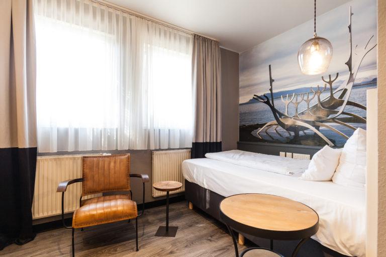 schönes Einzelbettzimmer im Nürnberger BW Hotel